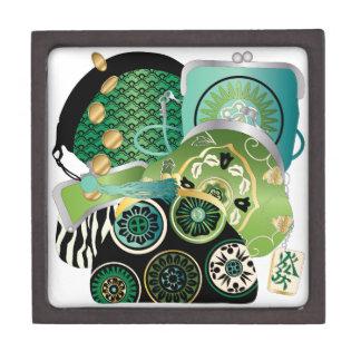 Mah Jongg Purses Green Gift Box