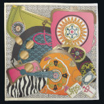 """Mah Jongg Purses Napkin<br><div class=""""desc"""">Designs based on beautiful Mah Jongg tiles. Products include cards,  magnets,  charms,  trays and more.</div>"""