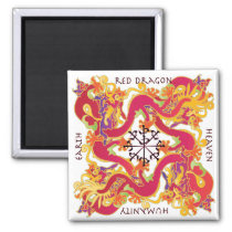 Mah Jongg Red Dragon Magnet