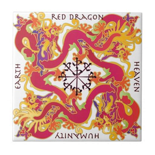 Red Dragon Tile : Mah jongg red dragon tile zazzle