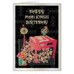 Mah Jongg Red Table Greeting Card