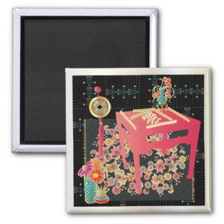 Mah Jongg Red Table Magnet