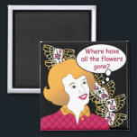 """Mah Jongg Sayings Flowers Magnet<br><div class=""""desc"""">Familiar sayings often heard at the Mah Jongg table. Get the retro look! The perfect gift for yourself and others.</div>"""