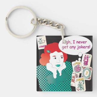 Mah Jongg Sayings Jokers2 Keychain