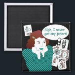 """Mah Jongg Sayings Jokers Magnet<br><div class=""""desc"""">Familiar sayings often heard at the Mah Jongg table. Get the retro look! The perfect gift for yourself and others.</div>"""