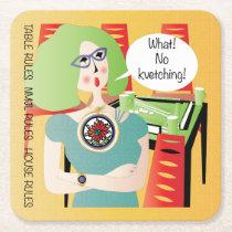 Mah Jongg Sayings Kvetching Square Paper Coaster
