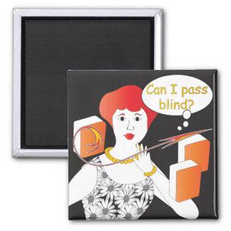 Mah Jongg Sayings Pass Blind 2 Inch Square Magnet