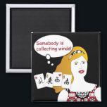 """Mah Jongg Sayings Winds Magnet<br><div class=""""desc"""">Familiar sayings often heard at the Mah Jongg table. Get the retro look! The perfect gift for yourself and others.</div>"""