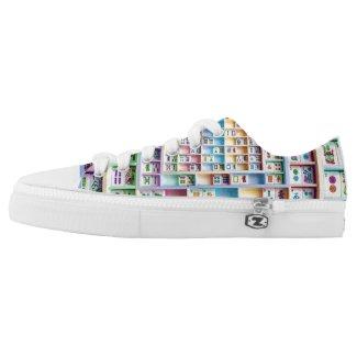 Mah Jongg Small Tiles Shoes