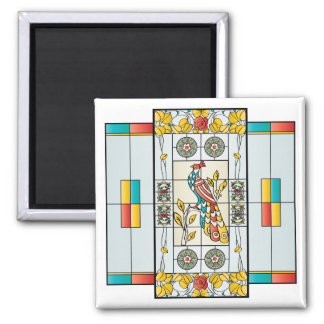Mah Jongg Stained Glass Brights Magnet