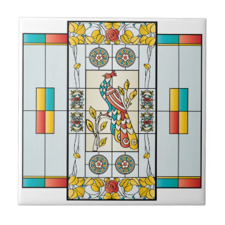 Mah Jongg Stained Glass Brights Tile