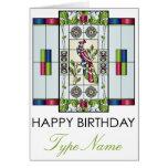 Mah Jongg Stained Glass Gems Birthday Card