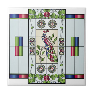 Mah Jongg Stained Glass Gems Tile