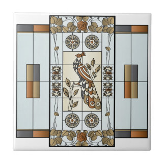Mah Jongg Stained Glass Neutrals Tile