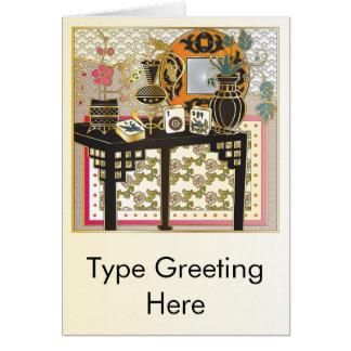 Mah Jongg Table Card