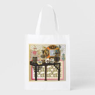 Mah Jongg Table Grocery Bag