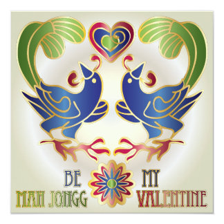 Mah Jongg Valentine Be My MJ Valentine Card