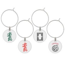 Mah Jongg Wine Charms