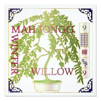 Mah Jongg Winter Willow Card