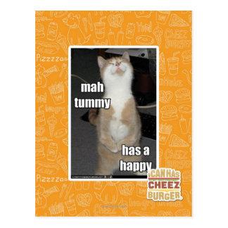 Mah tummy has a happy postcard