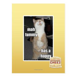 Mah tummy has a happy post card