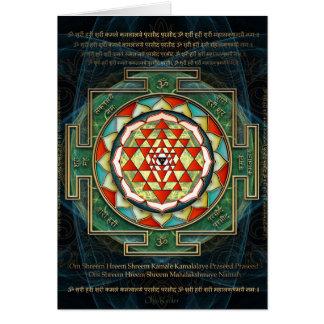 Maha Lakshmi Mantra & Shri Yantra Card