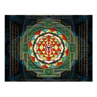 Maha Lakshmi Mantra & Shri Yantra Postcard