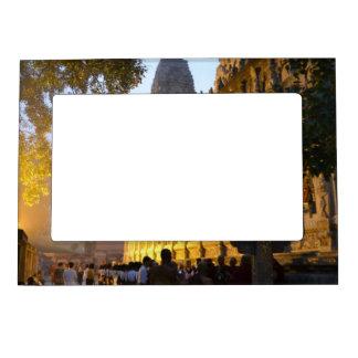 Mahabodhi Buddhist Temple Bodh Gaya India Magnetic Frame