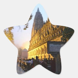 Mahabodhi Buddhist Temple Bodh Gaya India Star Sticker