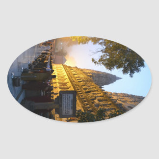 Mahabodhi Buddhist Temple Bodh Gaya India Oval Sticker