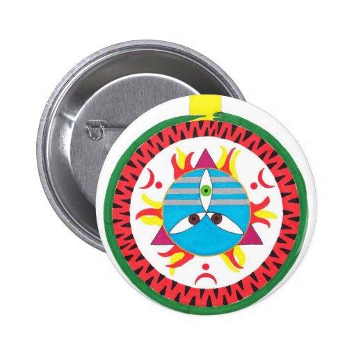 Mahadeva 2 Inch Round Button