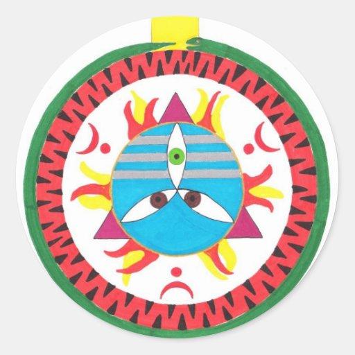 Mahadeva Pegatinas Redondas