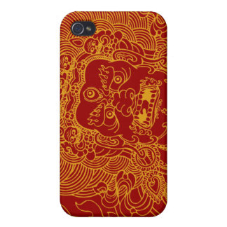 Mahakala (gold) covers for iPhone 4