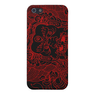 Mahakala (red) cases for iPhone 5