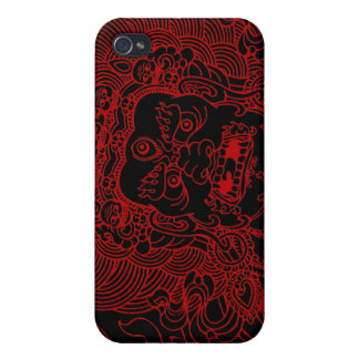 Mahakala (red) iPhone 4/4S cases