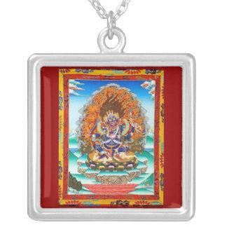 Mahakala Square Pendant Necklace