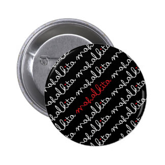 Mahal Kita Button in White Lettering
