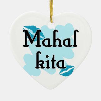 Mahal Kita - Filipino I love you Christmas Tree Ornament