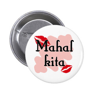Mahal Kita - Filipino I love you Pinback Button