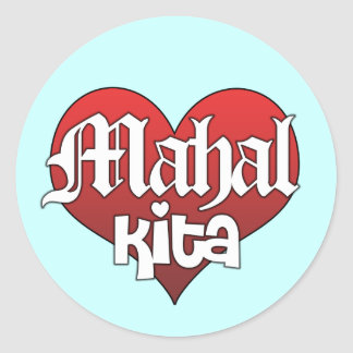 Mahal Kita (Sticker) Classic Round Sticker
