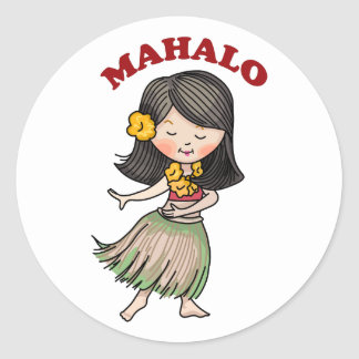 Mahalo Classic Round Sticker