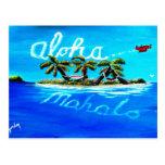 mahalo de la hawaiana postales