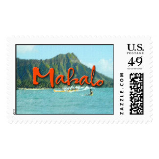 Mahalo Diamond Head Postage