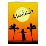Mahalo: Gracias del Hawaiian Felicitaciones