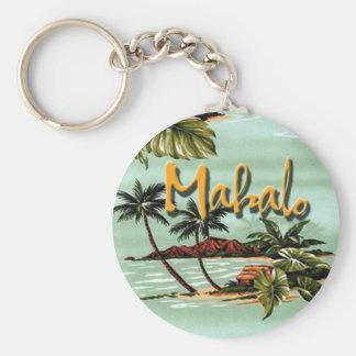 Mahalo Hawaiian Island Keychain