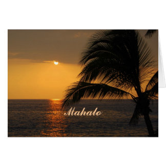 Mahalo Hawaiian Tropical Sunset Card