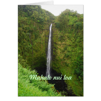 Mahalo Nui Loa, Hawaii, Akaka Falls, Card