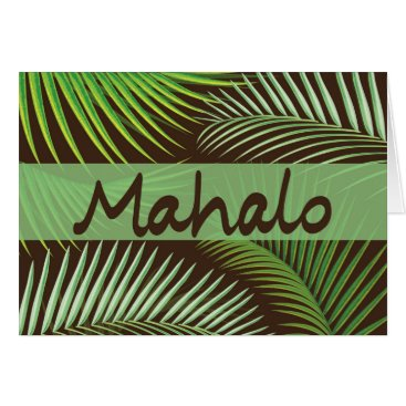 TropicalTouch Mahalo Palm Frond Card