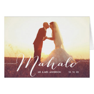 Mahalo Photo Wedding Thank You Note Card
