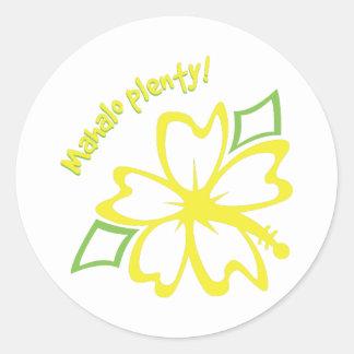 Mahalo Plenty! Classic Round Sticker